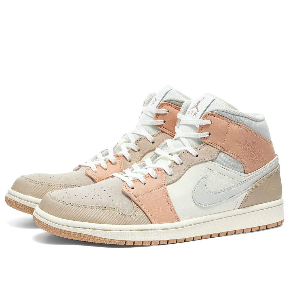 Air Jordan 1 Mid Milan Sail Bone Orange End