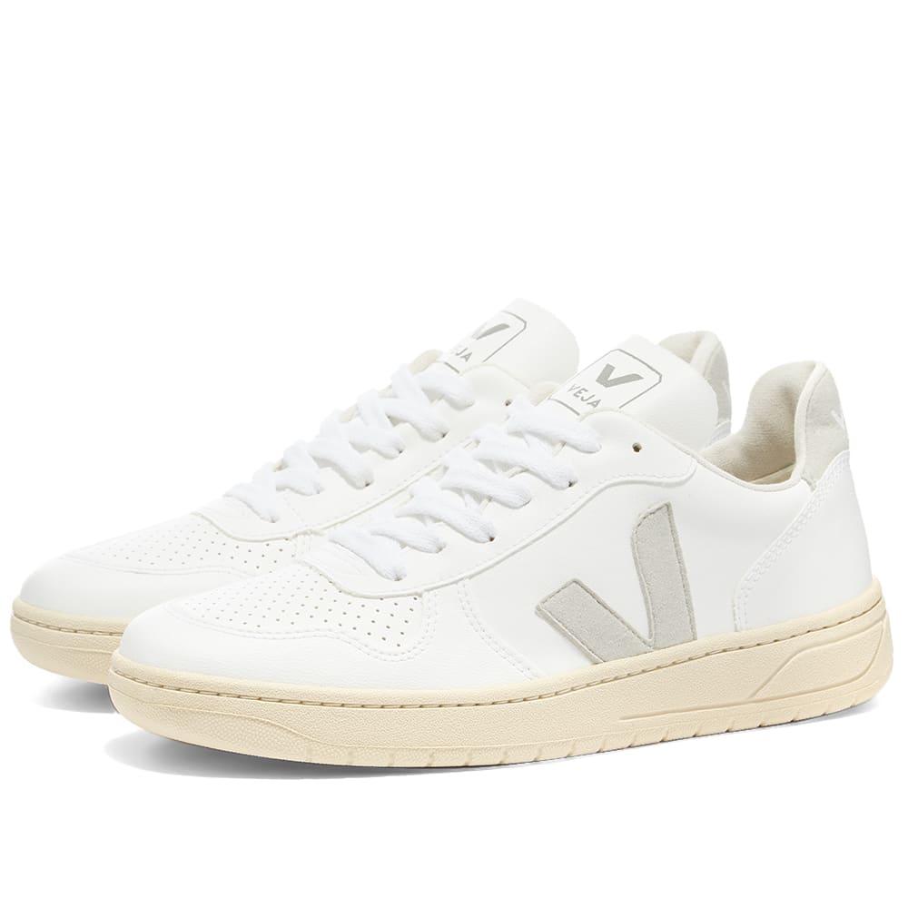 piloto vertical pasta  Veja V-10 Vegan Sneaker W White & Natural | END.
