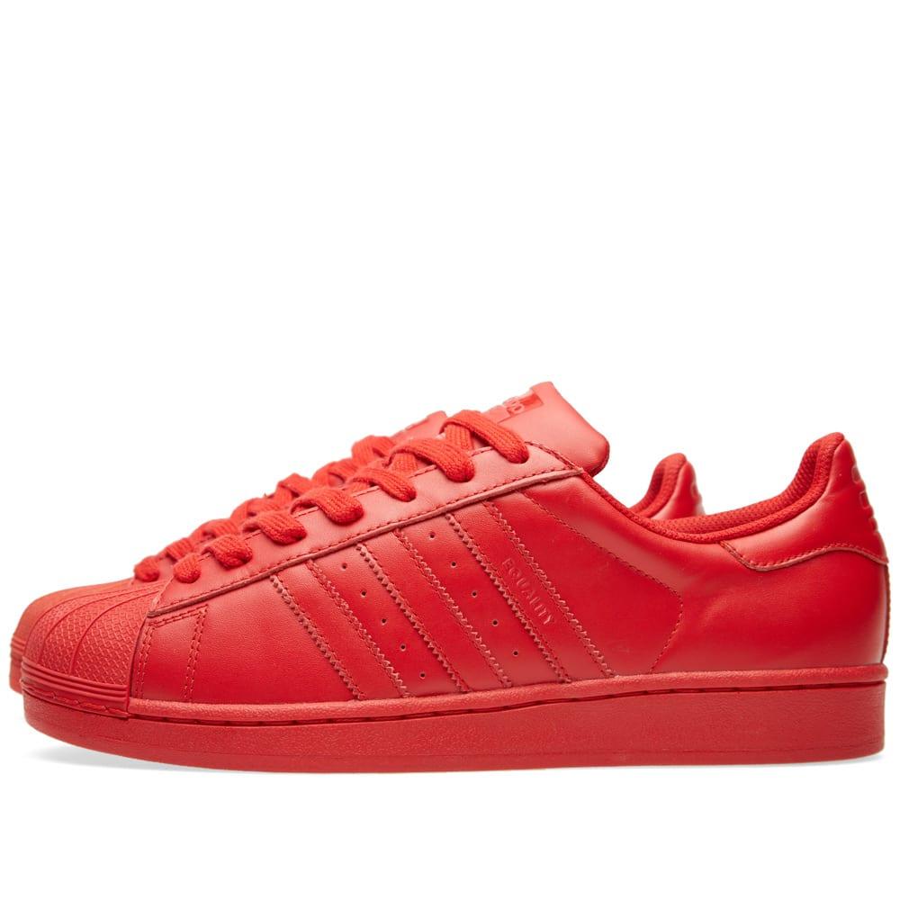 bfa1f74418084 Adidas x Pharrell Superstar  Supercolour  Red