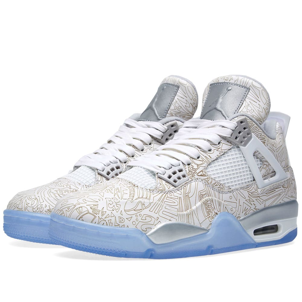 the best attitude d2bad 6bd39 Nike Air Jordan IV Retro Laser White   Metallic Silver   END.