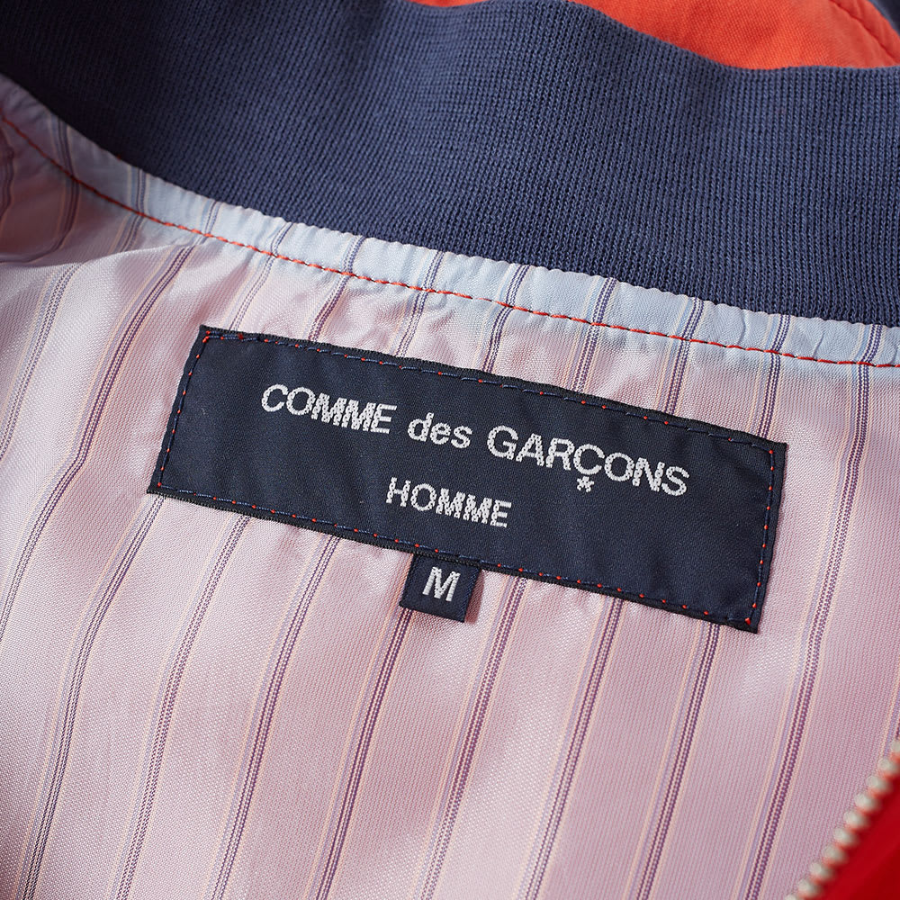 bc26ea1302e Comme des Garcons Homme Weather Cloth Bomber Jacket Orange