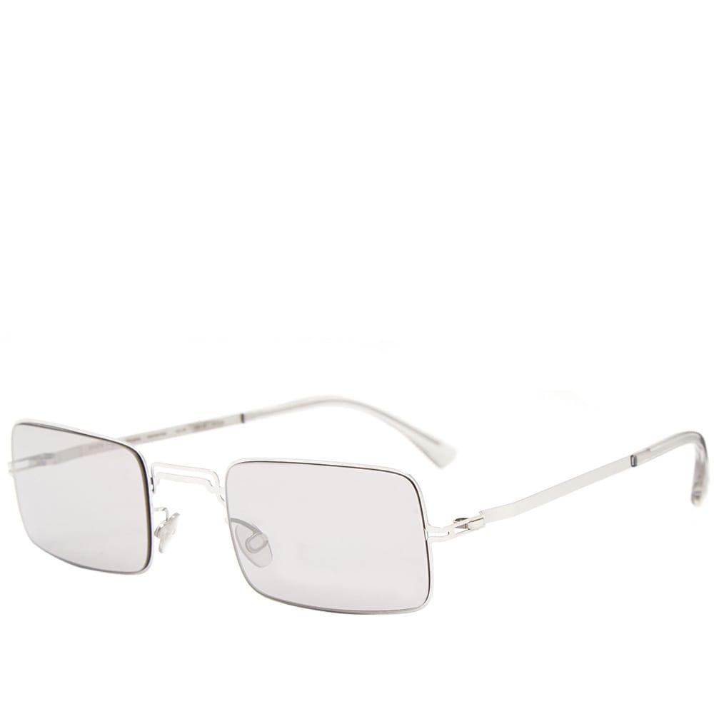 653d428e98 MYKITA x Maison Margiela MMCRAFT003 Sunglasses Shiny Silver & Warm Grey  Flash   END.