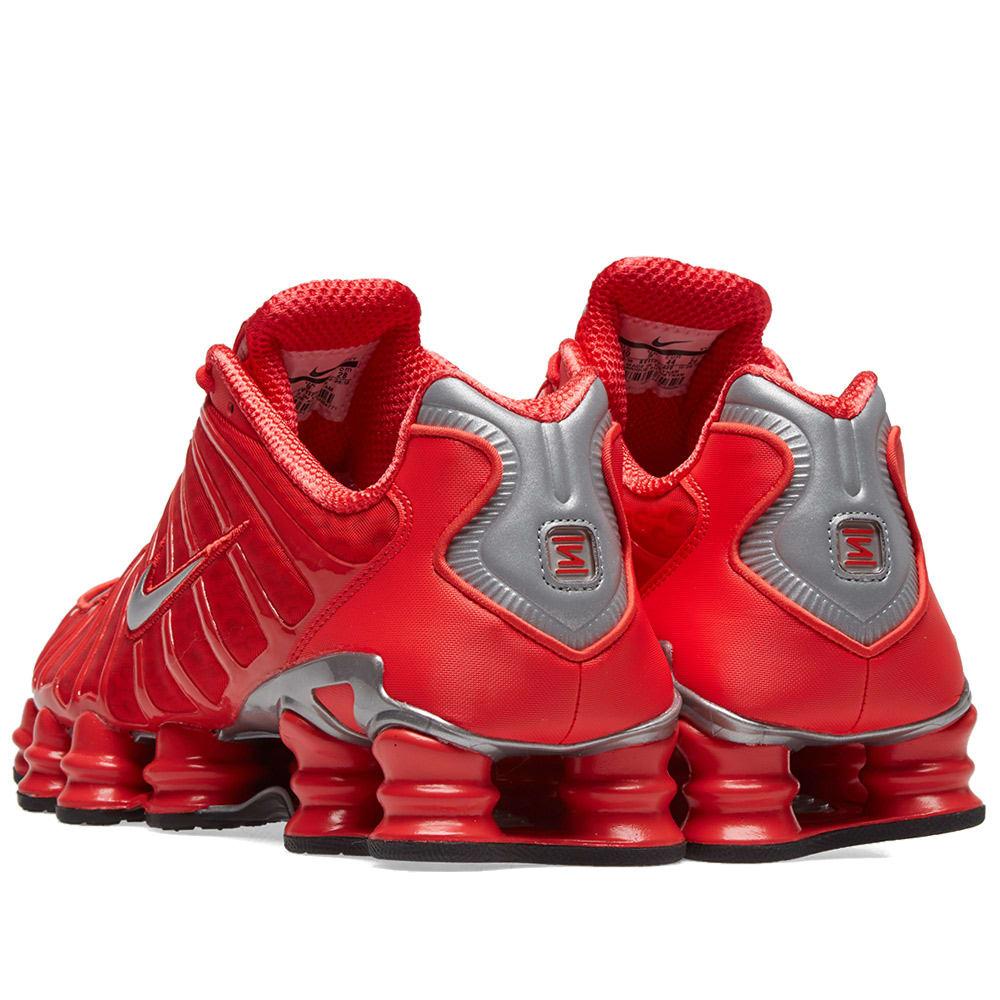fd2d2b9f0aaa9 Nike Shox TL Speed Red & Metallic Silver | END.