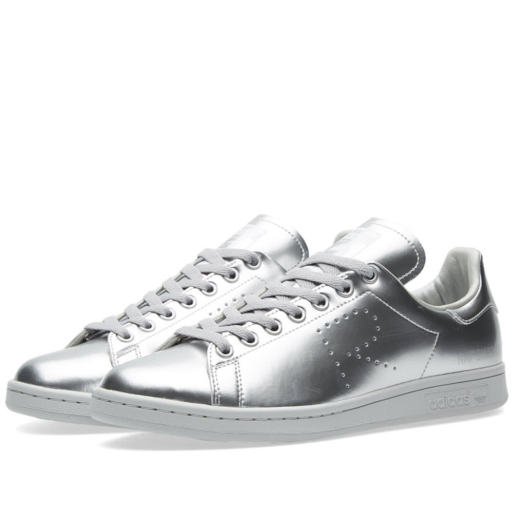 adidas x raf simons stan smith silver metallic. Black Bedroom Furniture Sets. Home Design Ideas