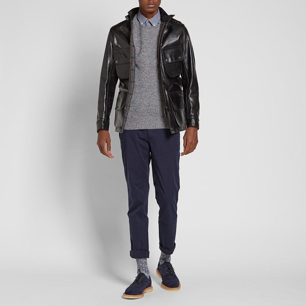 Barbour International x Triumph Perfo Leather Jacket (Black)