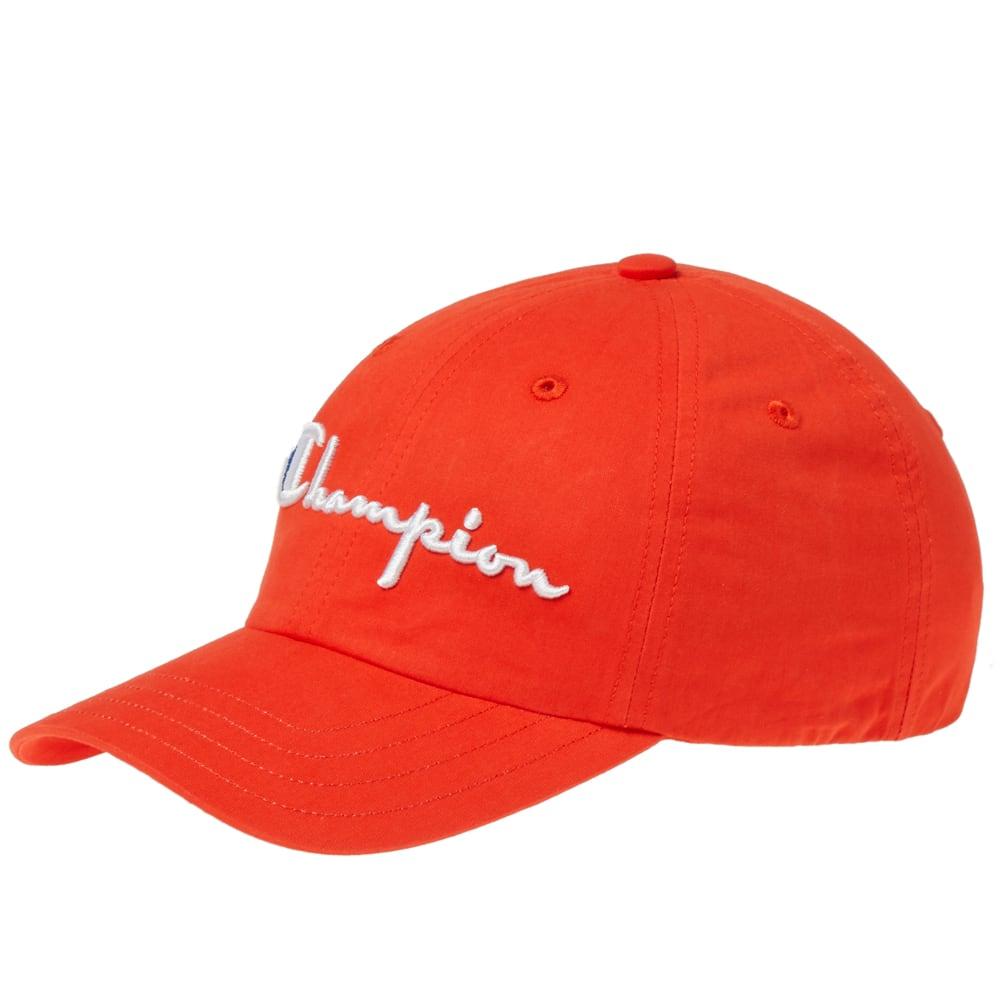 8fcc1ba11c260 Champion Reverse Weave Logo Baseball Cap Red