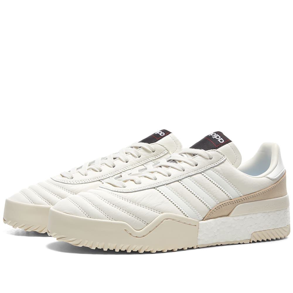 23262b465 Adidas Originals by Alexander Wang AW Soccer B-Ball Core White   Chalk  Pearl