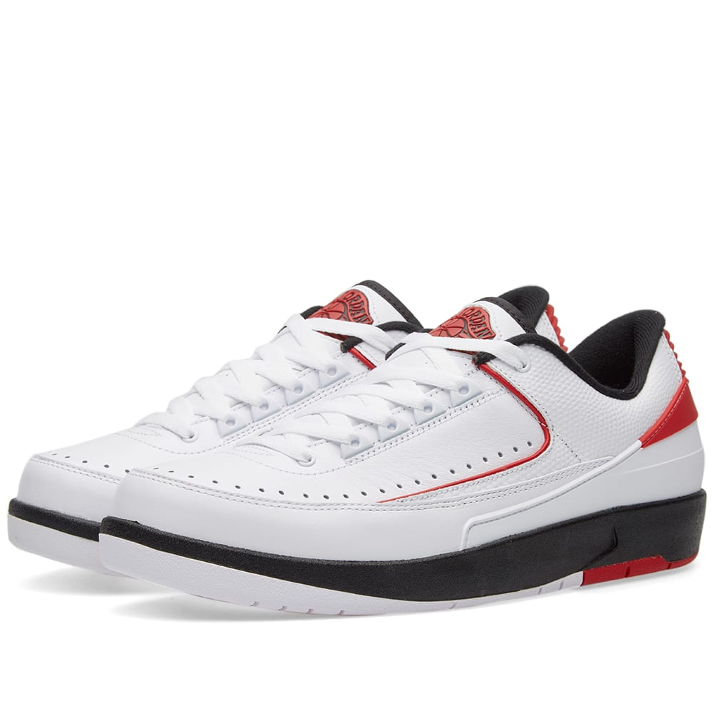 new product ded85 2cc02 Nike Air Jordan 2 Retro Low White, Varsity Red   Black   END.