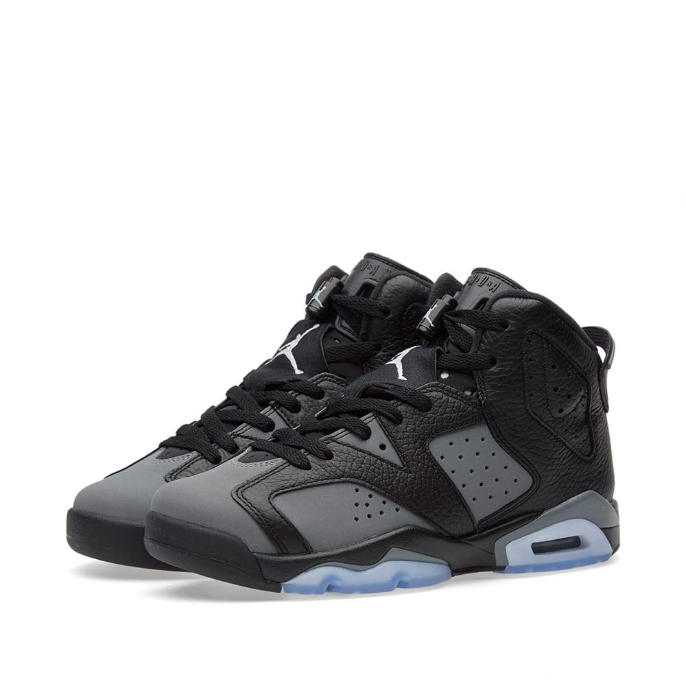 95df63a8e17d85 Nike Air Jordan 6 Retro BG Black