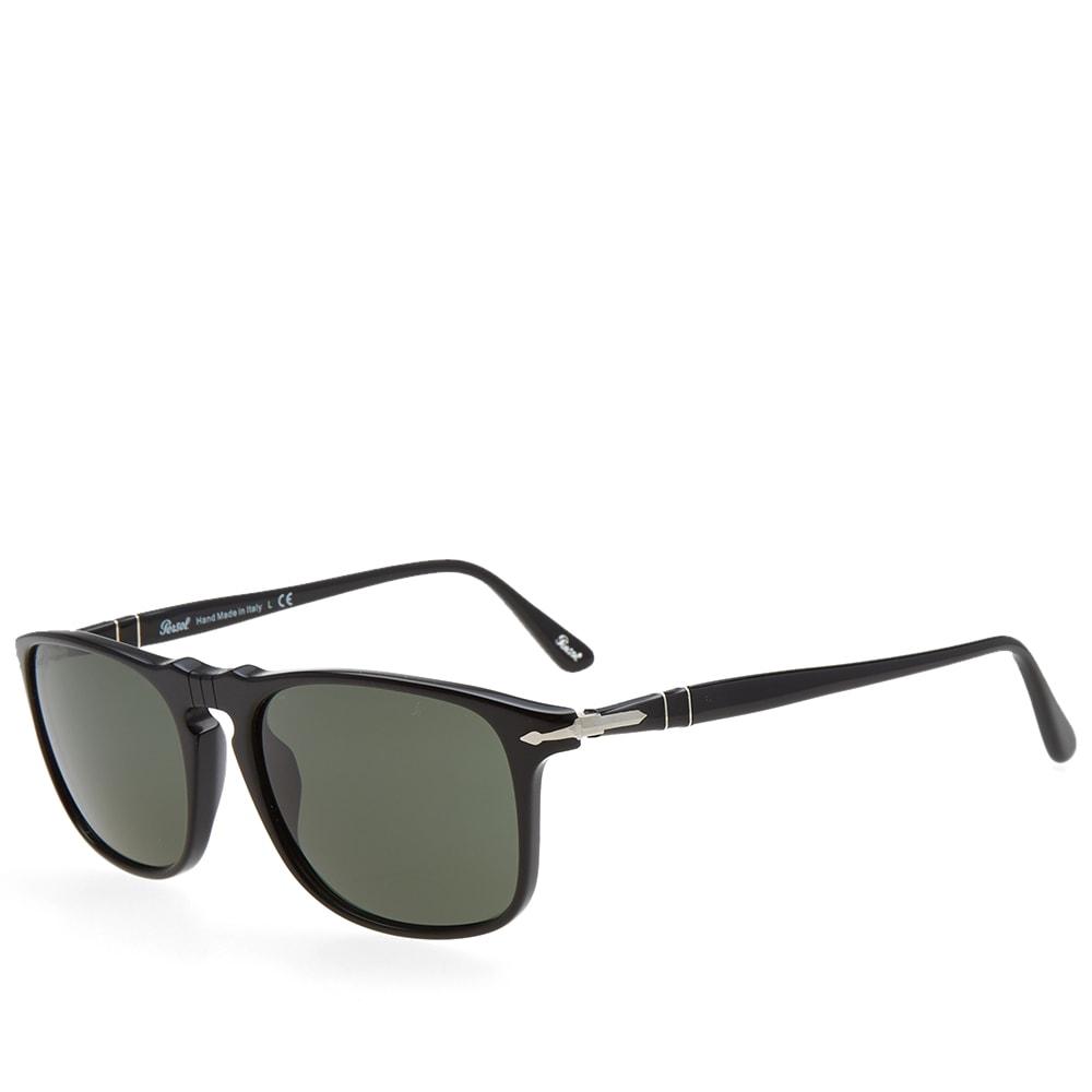 7b525a94f255b Persol 3059S Square Framed Aviator Sunglasses Black