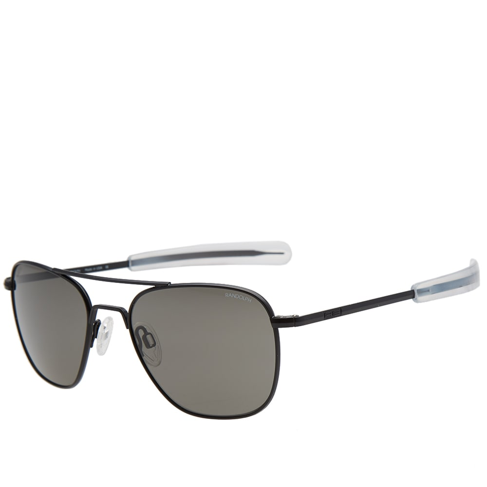 e2d9802eb6 Randolph Aviator Sunglasses Matte Black   Grey