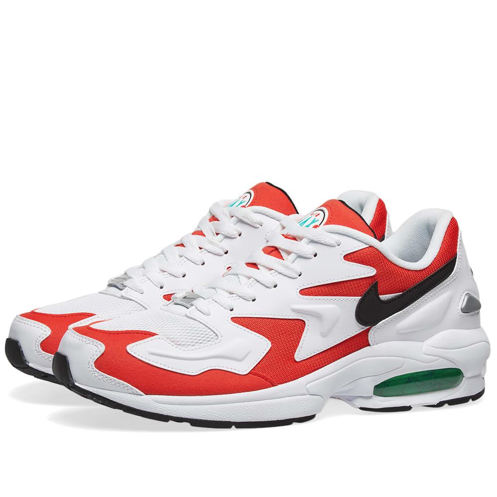 Nike Air Max 2 Light White, Black, Red