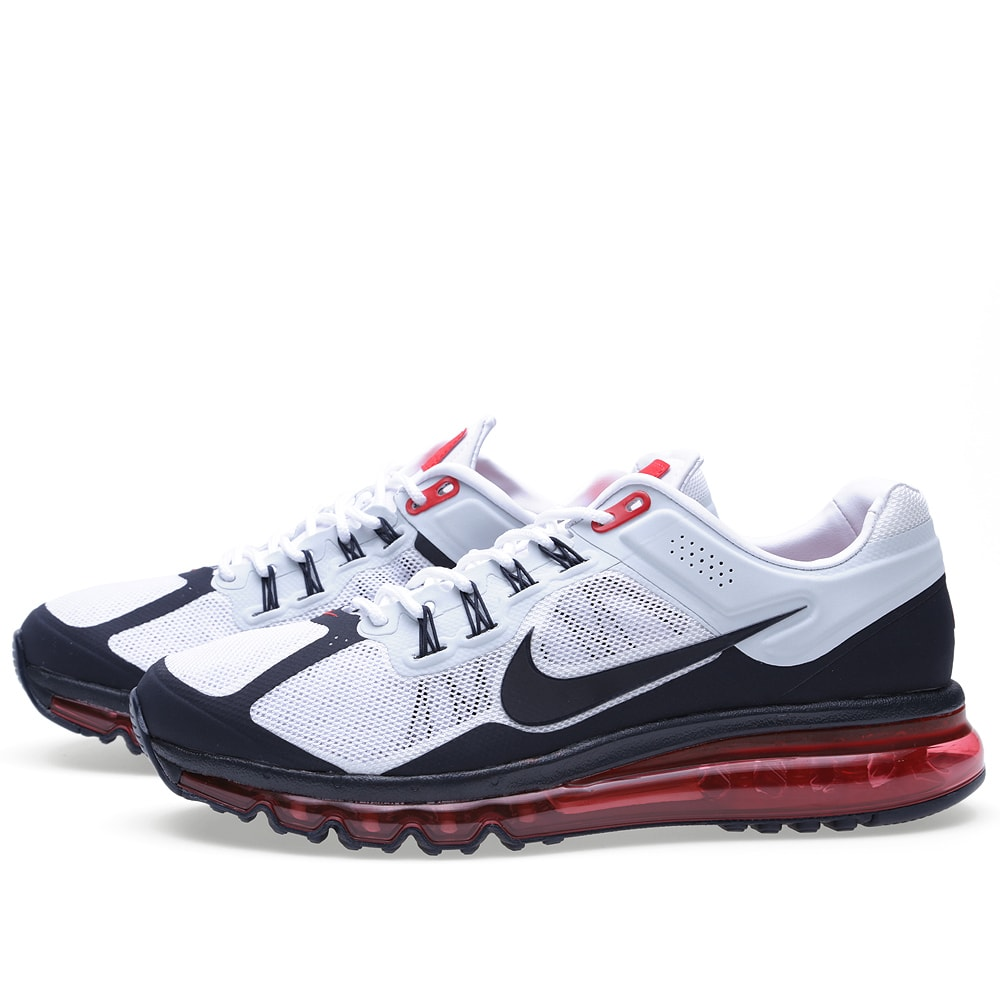 best authentic 1d76e a9a61 Nike Air Max 2013 EXT QS White, Dark Obsidian   Red   END.