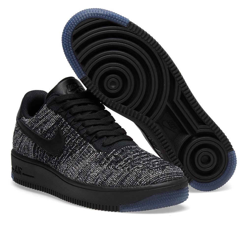 buy online b828b c0767 Nike W Air Force 1 Flyknit Low Black & White | END.