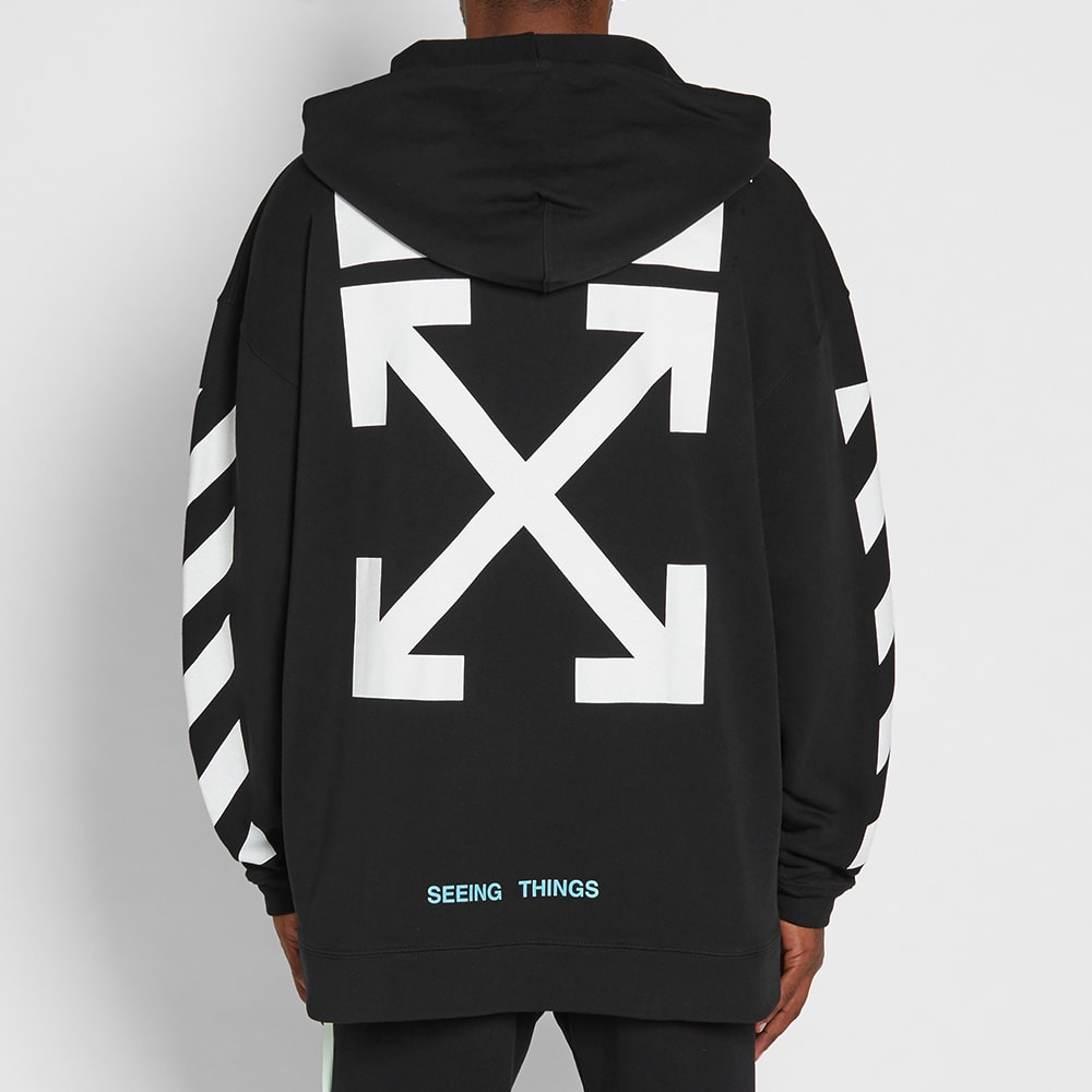 d6f3a716 Off-White Diagonals Arrows Oversized Hoody Black & White | END.