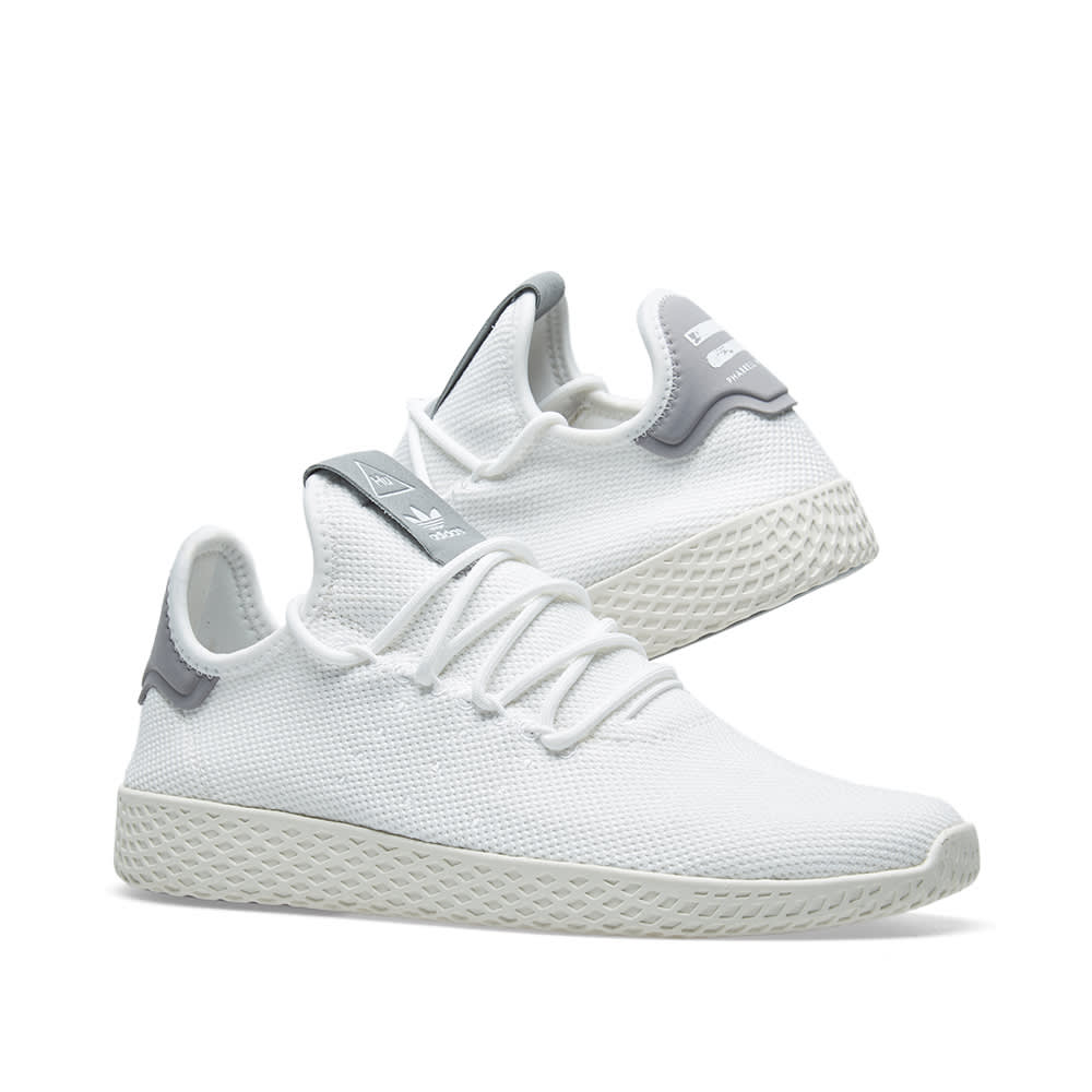 92c21d3d6bd5e Adidas x Pharrell Williams Tennis HU White   Grey