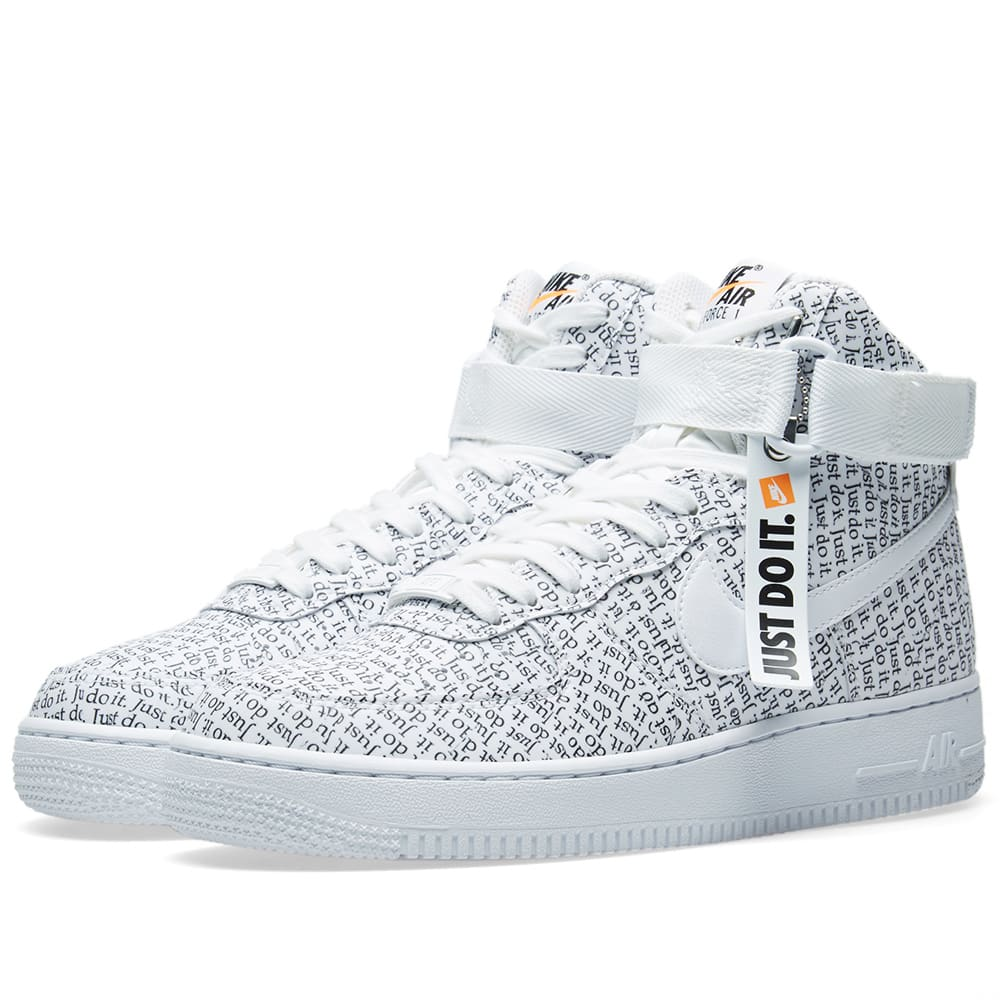 new concept dc093 d1e38 Nike Air Force 1 Hi LX W White, Black   Orange   END.