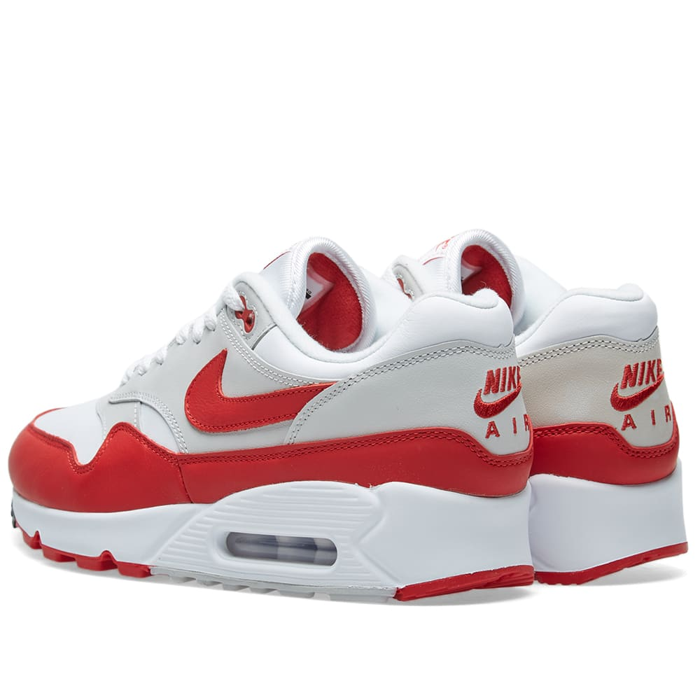 best website f3148 77451 Nike Air Max 90 1 White, Red, Grey   Black   END.