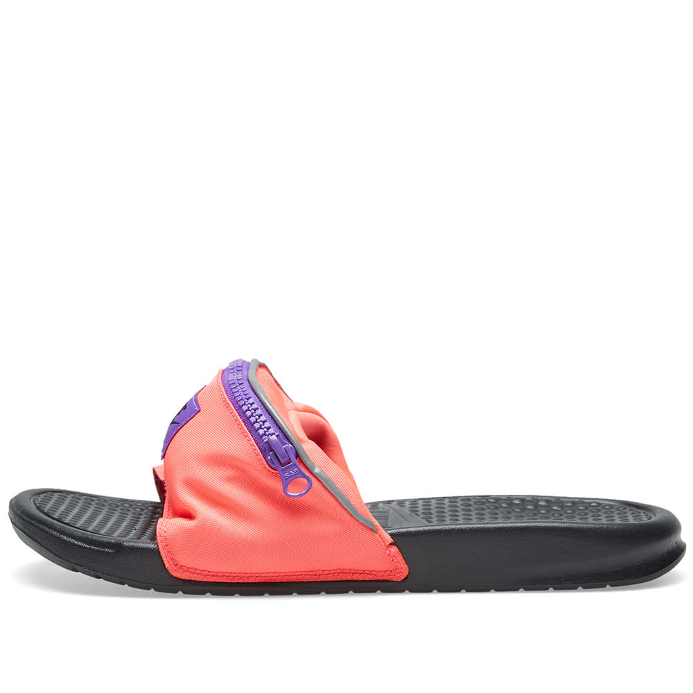 184276a82 Nike Benassi JDI Fanny Pack Hyper Punch   Black Grape