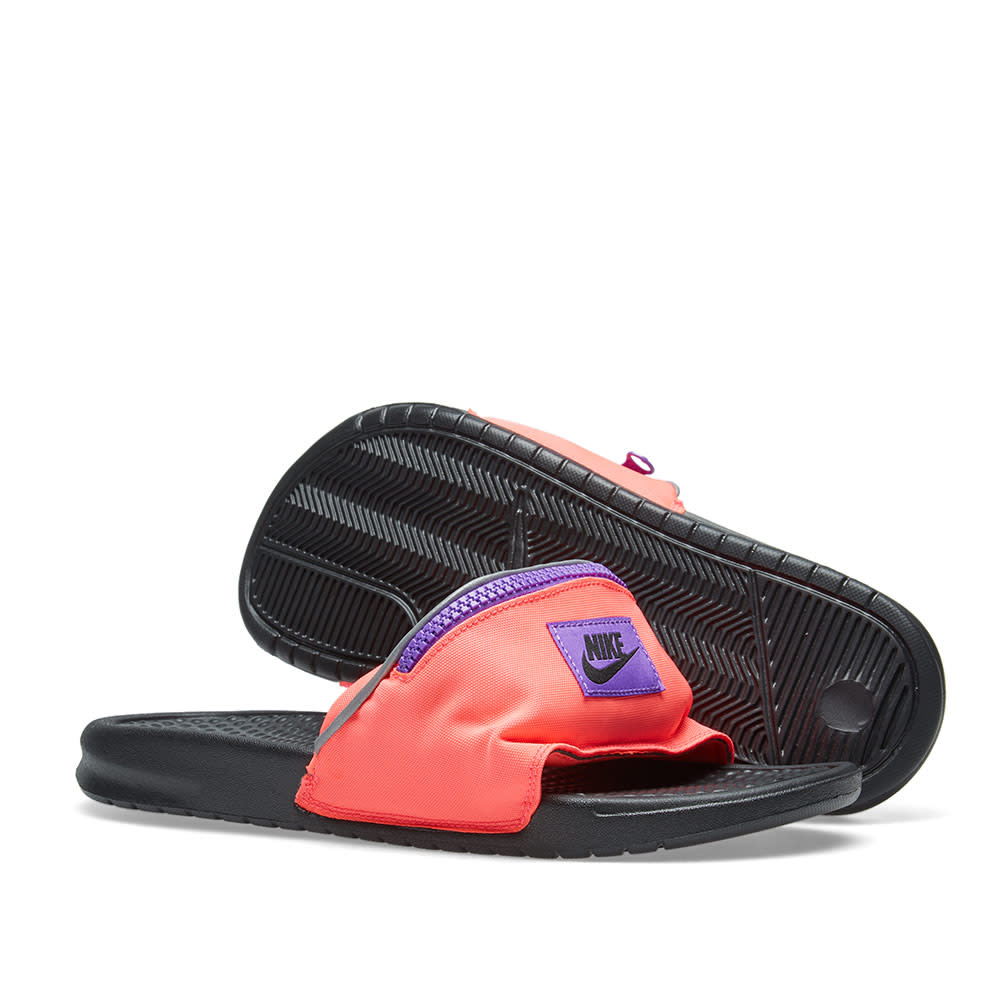 325c933aa05f Nike Benassi JDI Fanny Pack Hyper Punch   Black Grape