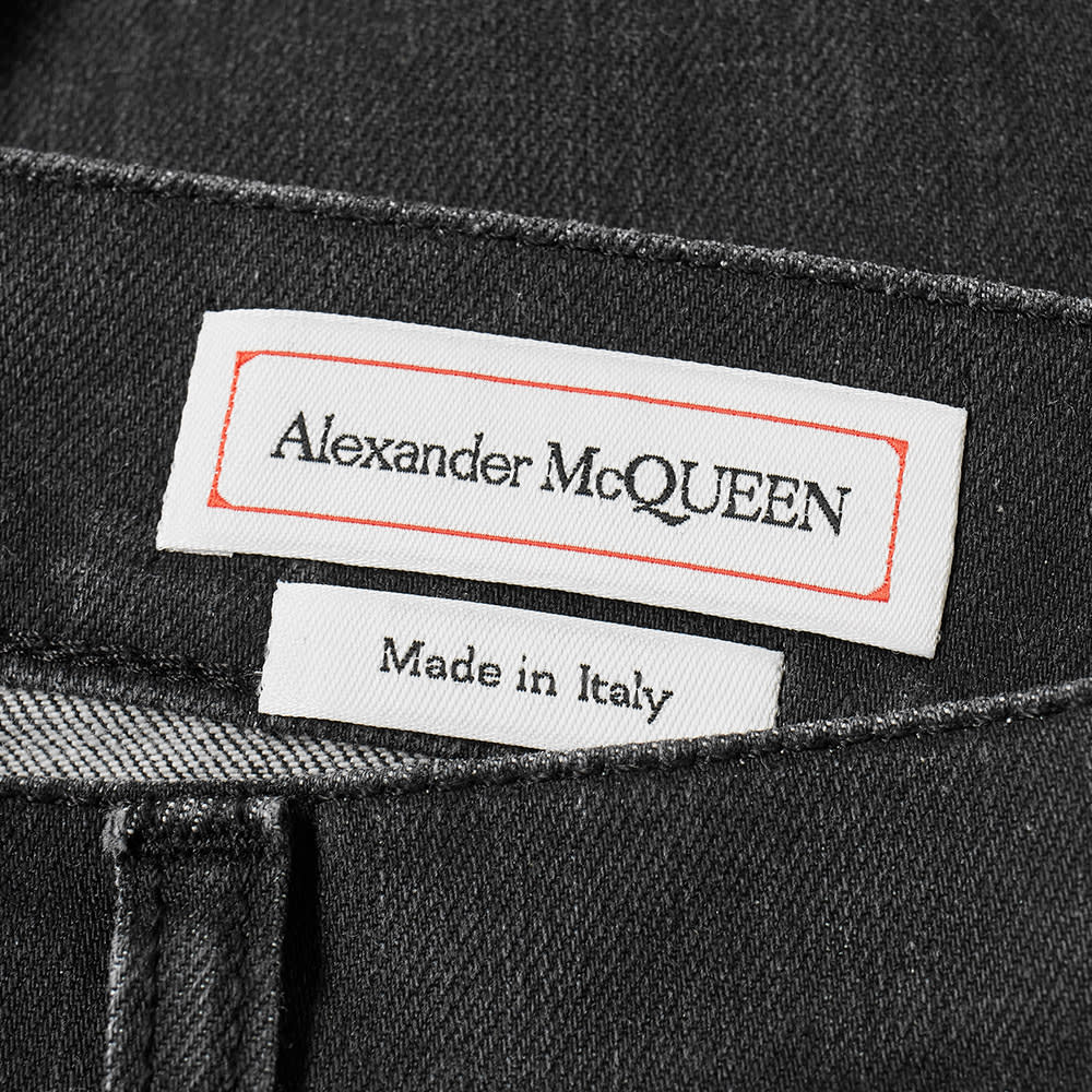 new style bb545 b0ec2 Alexander McQueen Logo Embroidered Jean