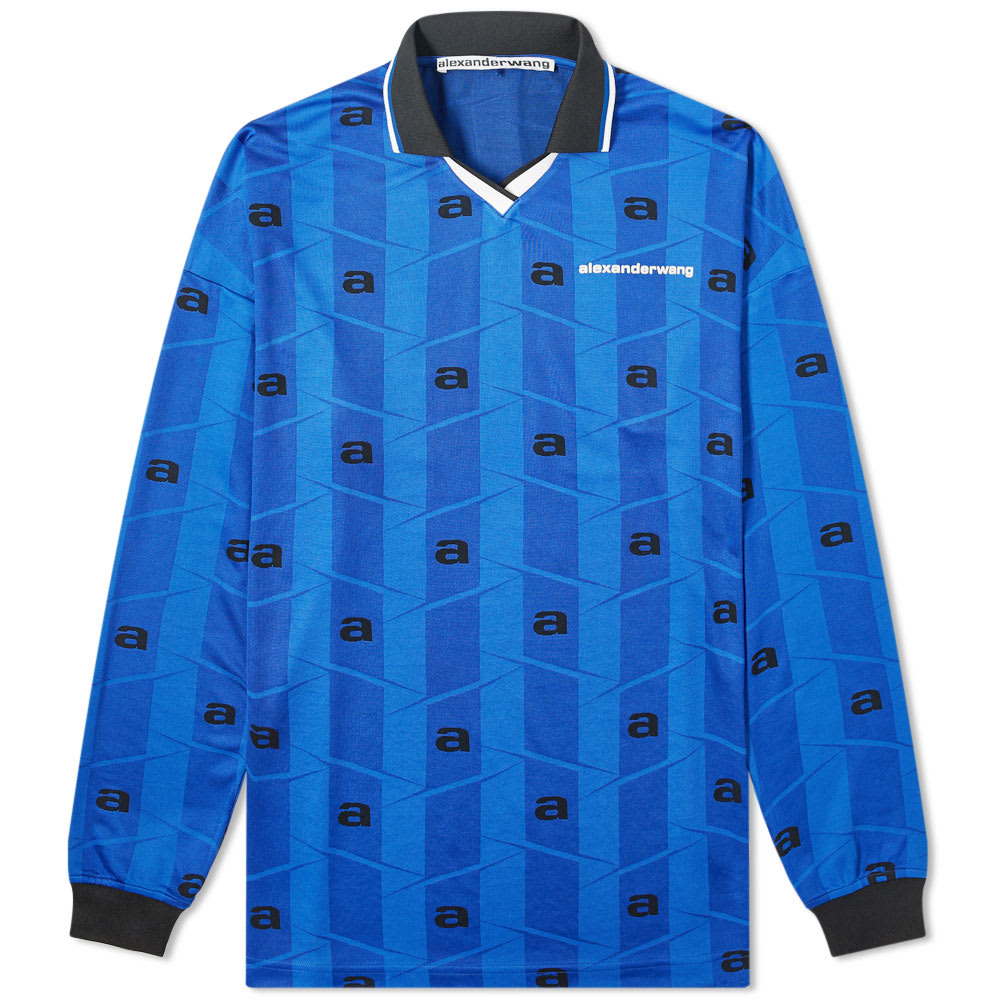 Alexander Wang Long Sleeve Soccer Jersey In Blue