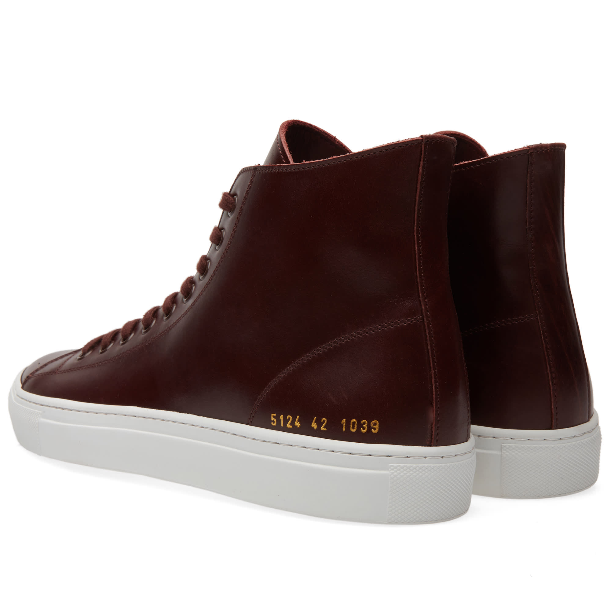 common projects tournament high leather bordeaux. Black Bedroom Furniture Sets. Home Design Ideas