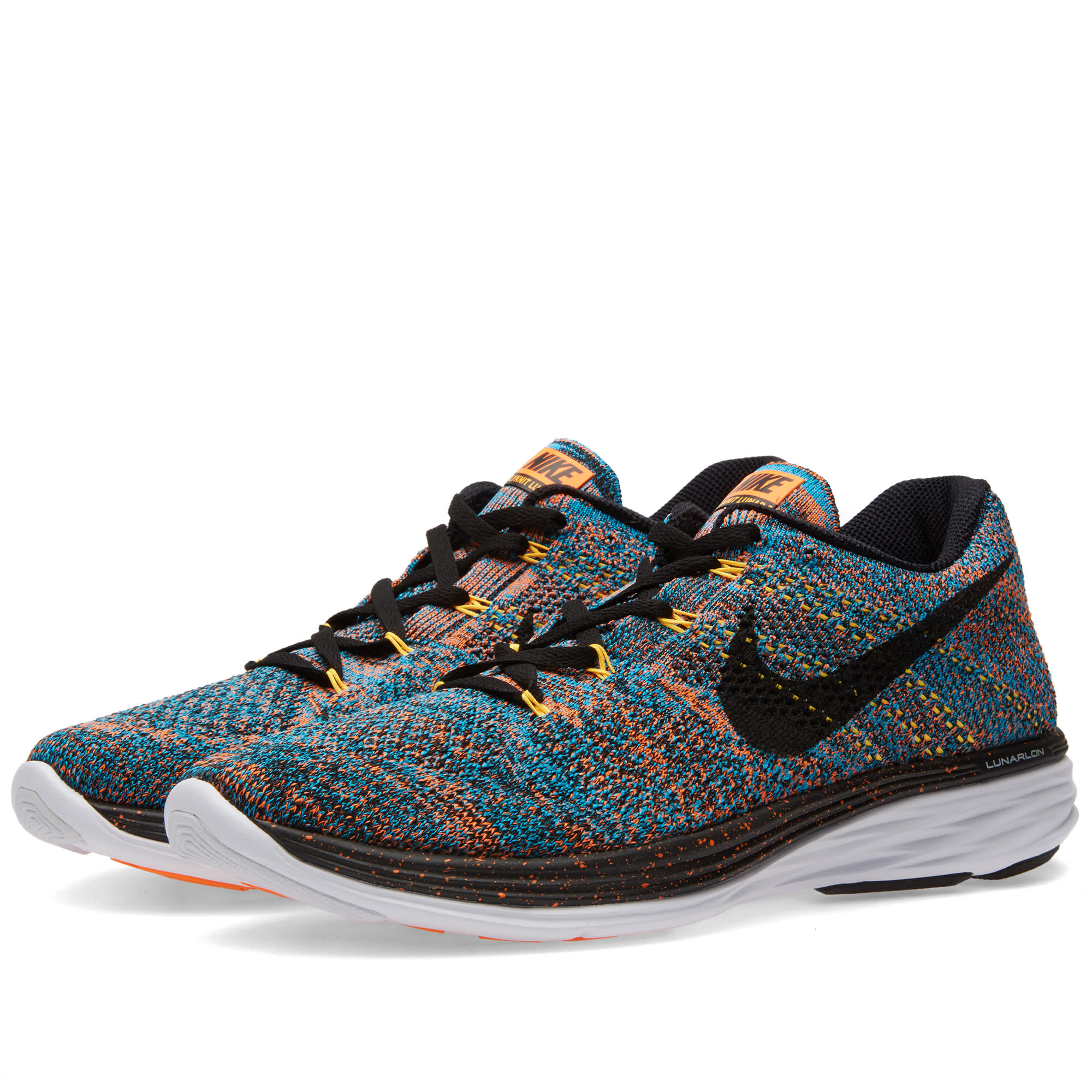 on sale 0bf6e c6176 Nike Flyknit Lunar 3 Total Orange   Blue Lagoon   END.