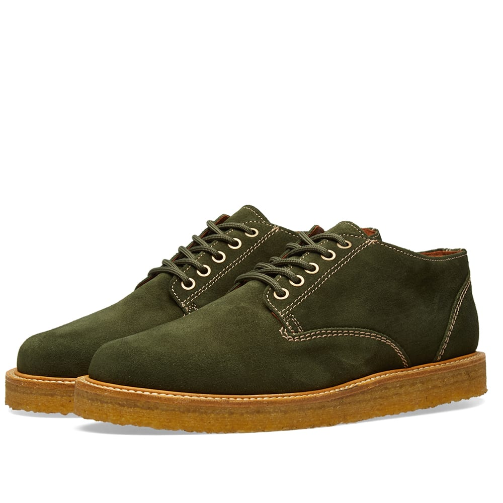 WILD BUNCH Wild Bunch Classic 5 Eyelet Shoe in Green
