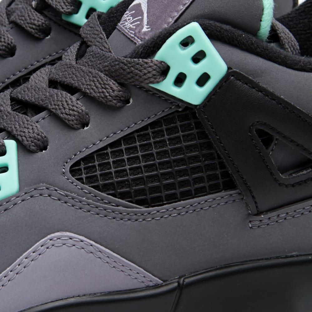 detailed look 0dd46 b7fcb Nike Air Jordan IV Retro  Green Glow  (GS) Dark Grey   Green Glow   END.