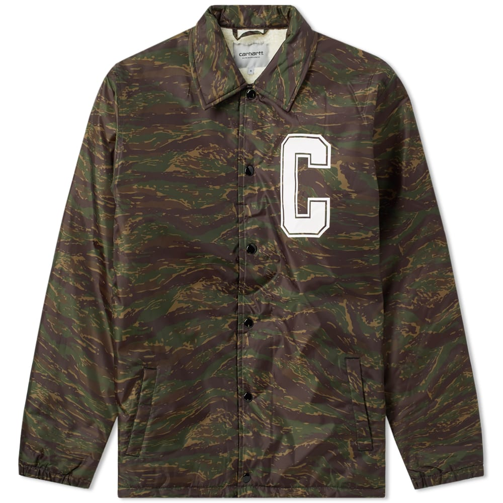 cc25961228319e Carhartt Pembroke Pile Coach Jacket Camo Tiger Jungle   White