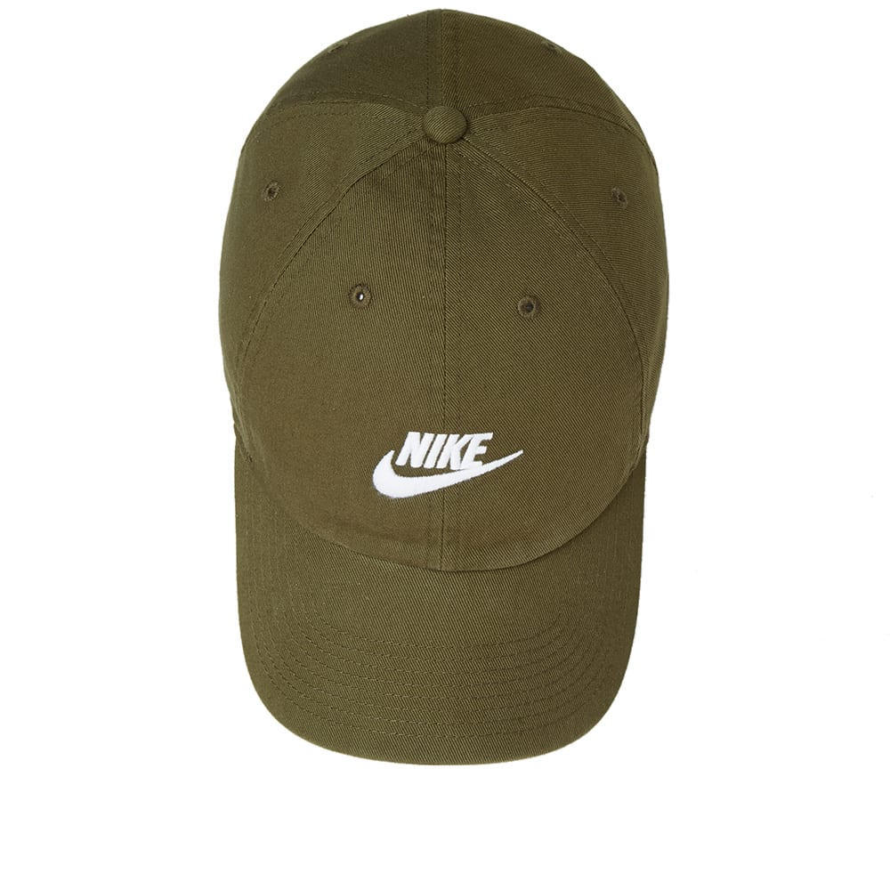 18ec5bb67a7 Nike Futura Washed H86 Cap Olive Canvas   White