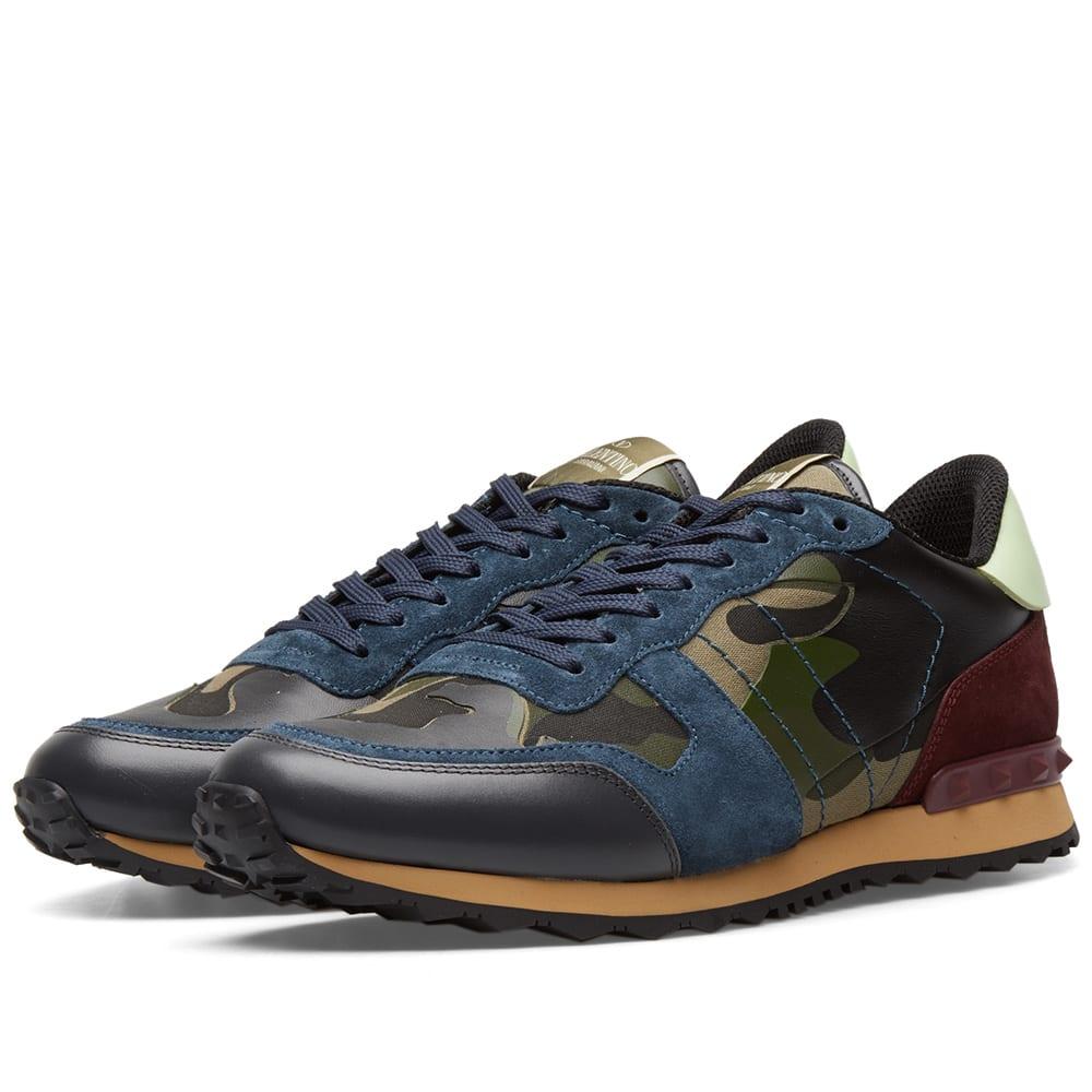 aede3acc81fc6 Valentino Rockrunner Sneaker Petrol & Burgundy | END.