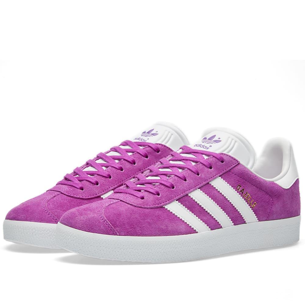 Adidas Gazelle Shock Purple \u0026 White | END.