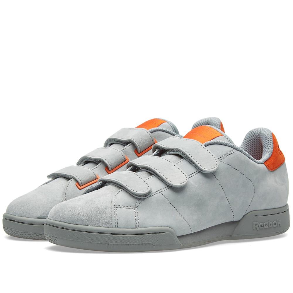 9ef0f3e3d05 Reebok x Livestock NPC Straps Grey   Orange