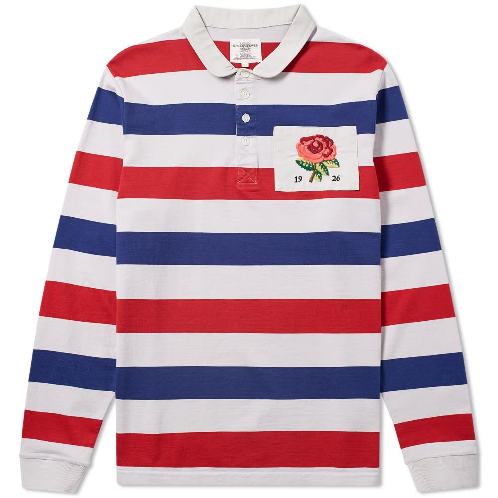 9d3f6774bf2 Kent & Curwen Finney Stripe Rugby Shirt