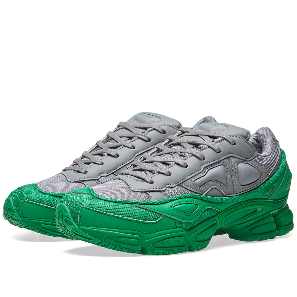 new arrivals 0eabf cef88 Adidas x Raf Simons Ozweego Green   Grey   END.