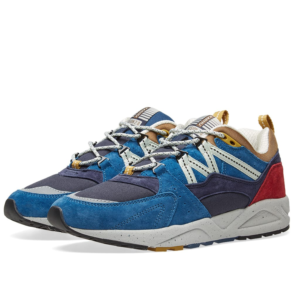 KARHU Men'S Fusion Lace-Up Sneakers in Blue