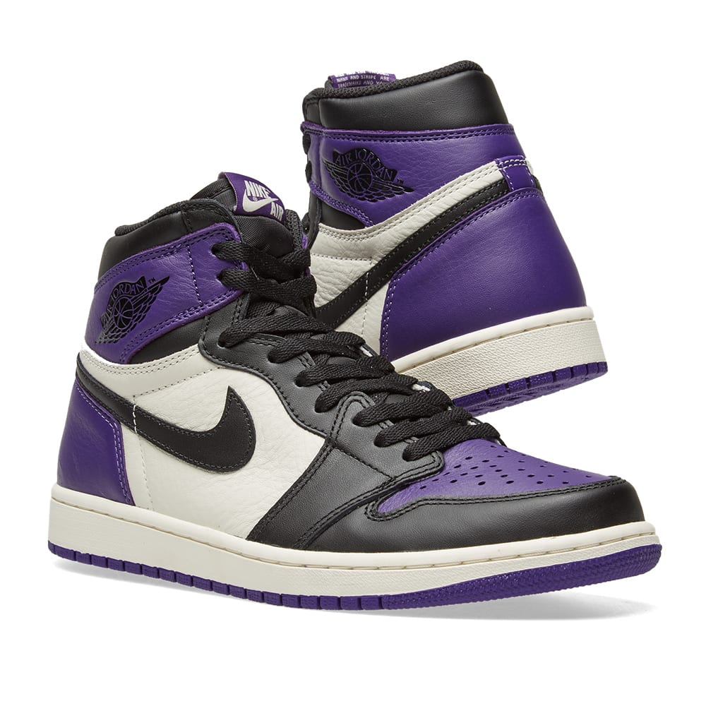 e7400ca5d89a0b Nike Air Jordan 1 Retro High OG Court Purple   White