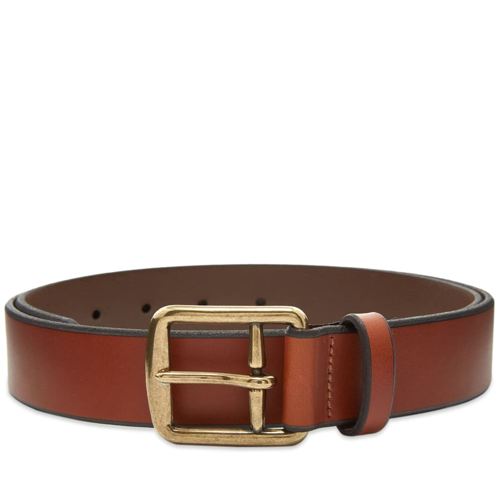 Polo Ralph Lauren Leather Casual Belt In Brown
