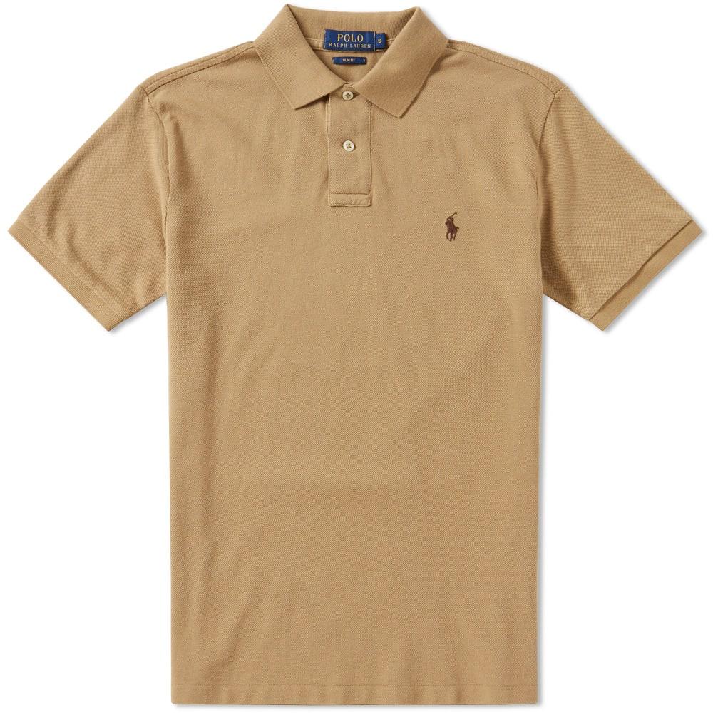 afc2aa43 Polo Ralph Lauren Slim Fit Polo Luxury Tan | END.