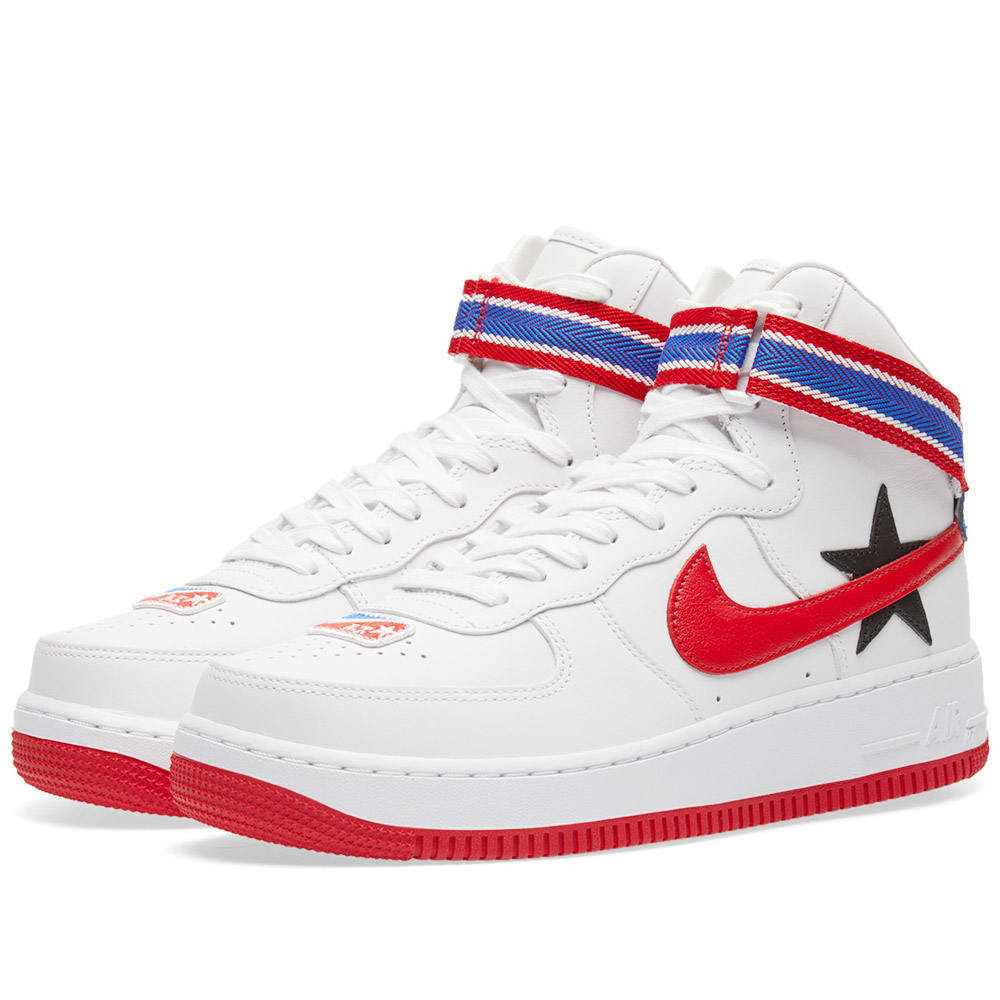 size 40 20377 c34ef Nike x Riccardo Tisci Air Force 1 Hi RT White, University Red   Black   END.