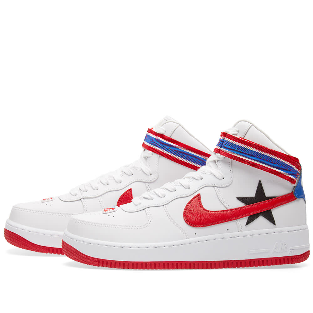 size 40 96a66 fe15c Nike x Riccardo Tisci Air Force 1 Hi RT White, University Red   Black   END.