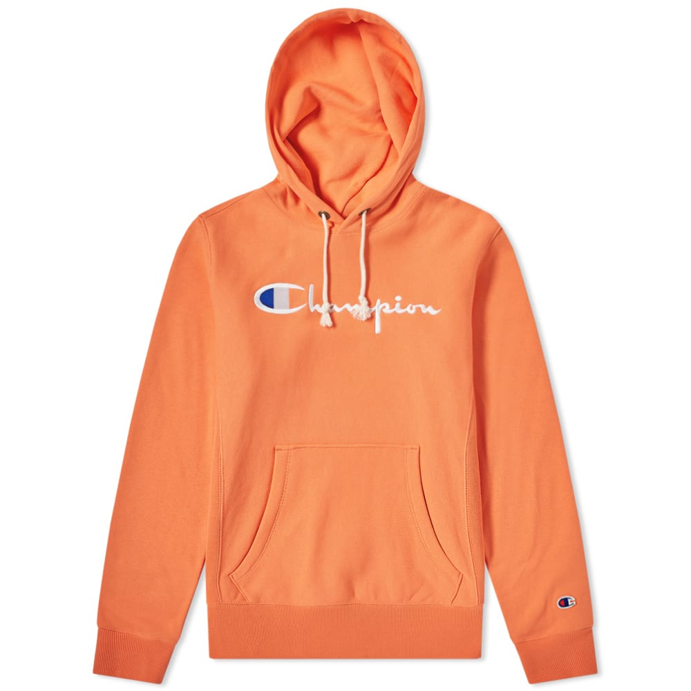 9ed5a600 Champion Reverse Weave Women's Logo Script Hoody Pastel Orange | END.