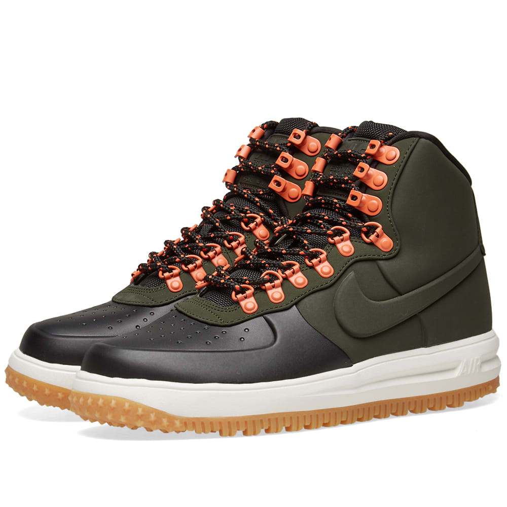 big sale b29f8 1c4ec Nike Lunar Force 1 Duckboot  18 Black, Sequoia, Sail   Brown   END.
