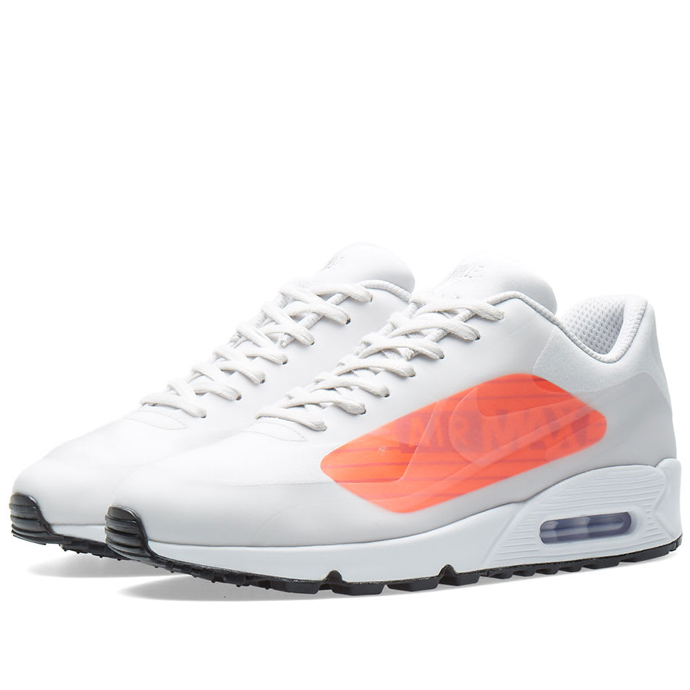 super popular e5339 8da01 Nike Air Max 90 NS GPX Neutral Grey   Bright Crimson   END.