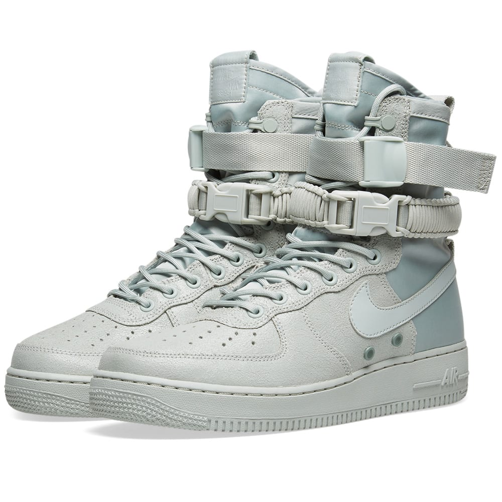 premium selection f01b2 c9f0a Nike Air Force 1 SF W Silver, Mica Green   Grey   END.