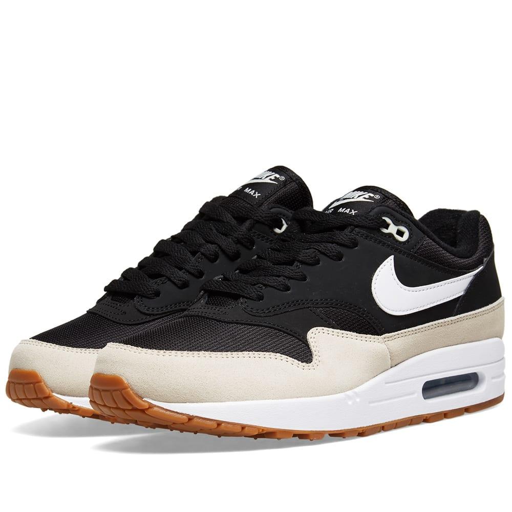 quality design 76358 8c151 Nike Air Max 1 Black, White   Light Bone   END.