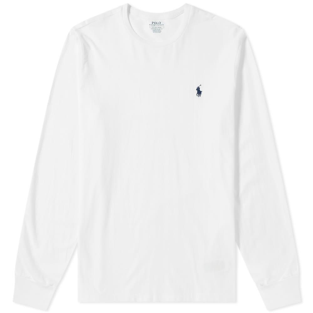 9d146d5eb4bec6 Polo Ralph Lauren Long Sleeve Custom Fit Tee White