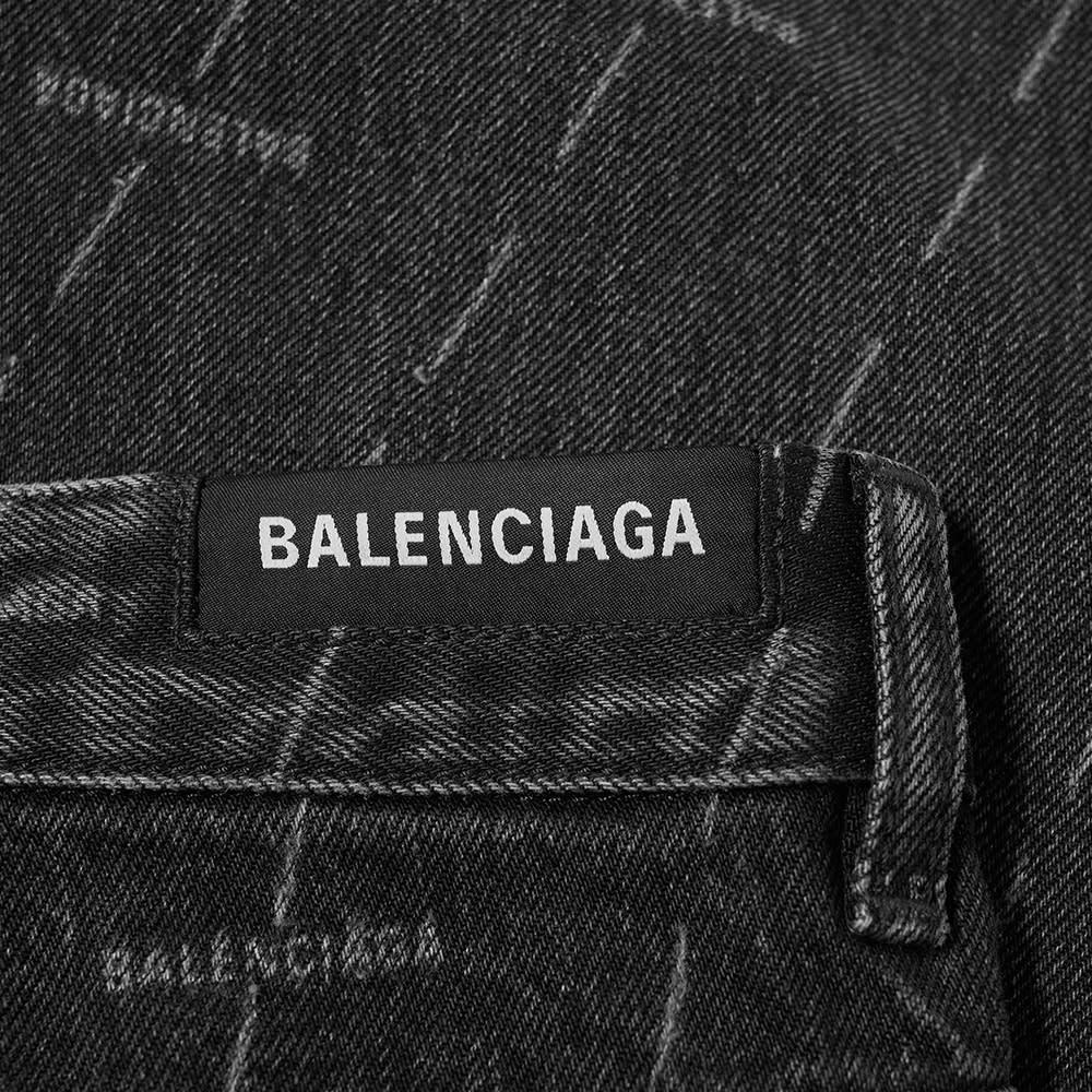 BALENCIAGA Denims Balenciaga All Over Logo Jean